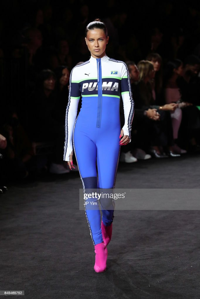 Adriana Lima walks the runway wearing Look 56 at the FENTY PUMA by Rihanna Spring/Summer 2018 Collection at Park Avenue Armory on September 10, 2017 in New York City.