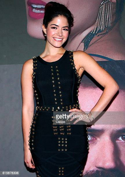 Adriana Lllabres attends La Vida Inmoral De La Pareja Ideal premiere and red carpet at Teatro Metropolitano on October 19 2016 in Mexico City Mexico