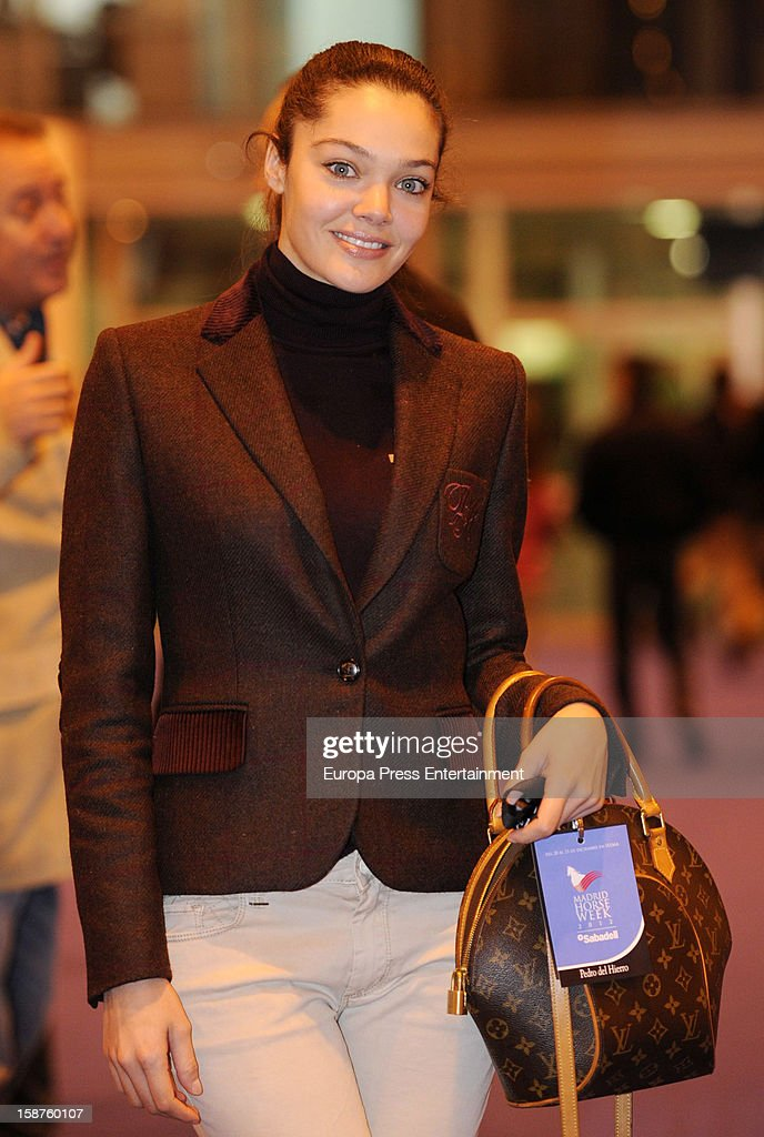 Adriana Torrebejano attends Madrid Horse Week Fair 2012 at Ifema on December 21, 2012 in Madrid, Spain.