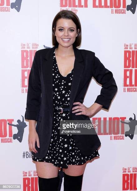 Adriana Torrebejano attends the 'Billy ElliotEl Musical' premiere at Nuevo Alcala Theater on October 18 2017 in Madrid Spain