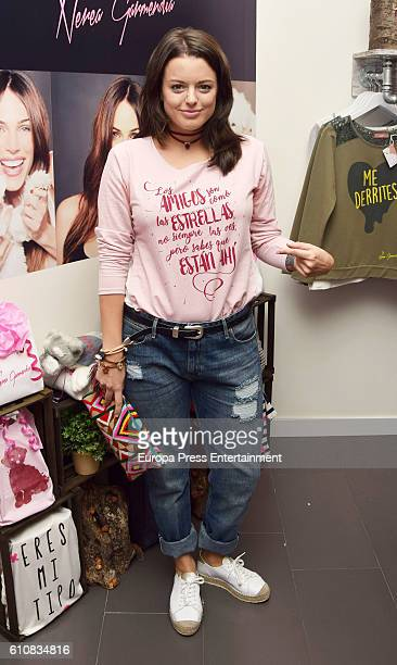 Adriana Torrebejano attends the opening of the flagship store BY NEREA at Plaza Norte 2 shopping centre on September 27 2016 in San Sebastian de los...