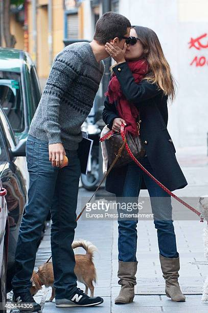 Adriana Ugarte and Alex Gonzalez are seen on November 7 2013 in Madrid Spain