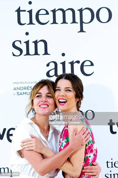 Adriana Ugarte and Juana Acosta attend 'Tiempo Sin Aire' photocall at Princesa Cinema on April 27 2015 in Madrid Spain