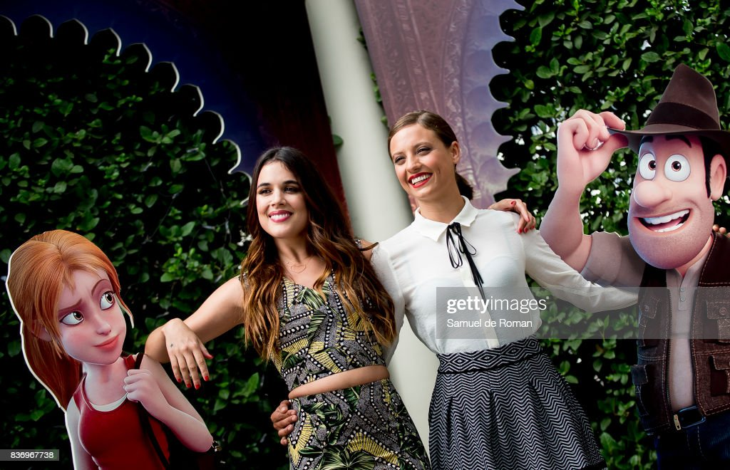 Adriana Ugarte and Michelle Jenner during 'Tadeo Jones 2. El Secreto Del Rey Midas' Madrid Photocall on August 22, 2017 in Madrid, Spain.