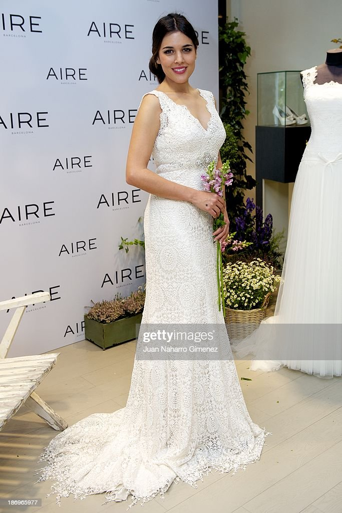 Adriana Ugarte attends Aire Barcelona new collection presentation at Aire Barcelona Store on November 5, 2013 in Madrid, Spain.
