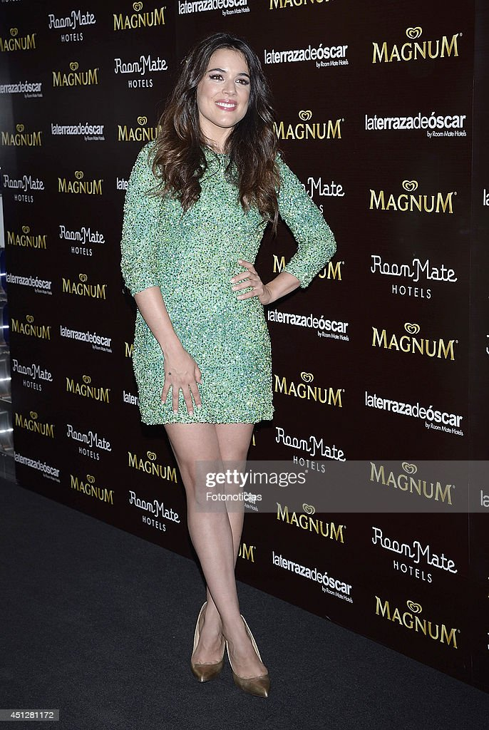 <a gi-track='captionPersonalityLinkClicked' href=/galleries/search?phrase=Adriana+Ugarte&family=editorial&specificpeople=6546874 ng-click='$event.stopPropagation()'>Adriana Ugarte</a> attends the 'Chocolate Opening Party By Magnum' at the Room Mate Oscar Hotel on June 26, 2014 in Madrid, Spain.