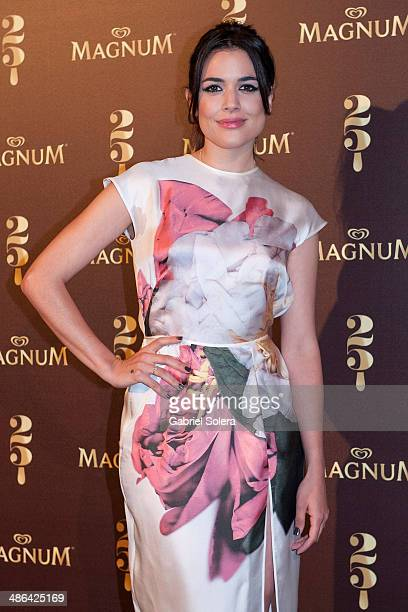 Adriana Ugarte celebrates Magnum 25th Anniversary at Palacio de Santa Coloma on April 24 2014 in Madrid Spain