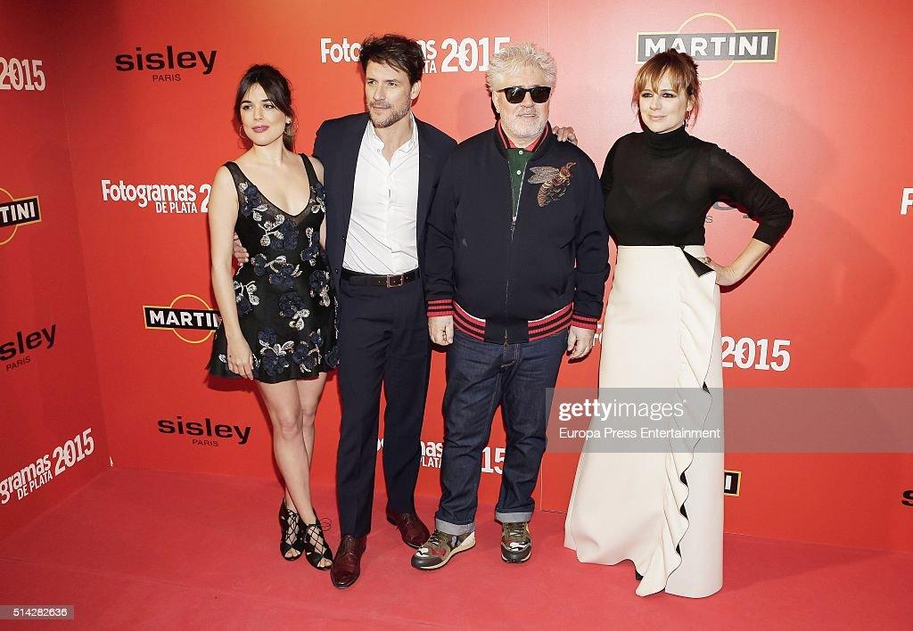 Adriana Ugarte Daniel Grao Pedro Almodovar and Emma Suarez attend Fotogramas Awards on March 7 2016 in Madrid Spain