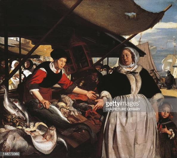 Adriana van Heusden and daughter at the New Fishmarket in Amsterdam ca 1662 Emanuel de Witte oil on canvas 57x64 cm London National Gallery