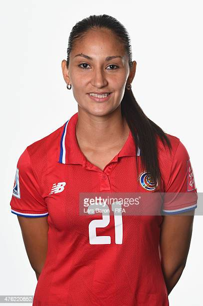 Adriana Venegas of Costa Rica poses during the FIFA Women's World Cup 2015 portrait session at Sheraton Le Centre on June 6 2015 in Montreal Canada