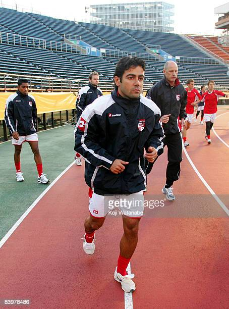 Adriani Pimenta of Waitakere United in action during the official training session at the National Stadium on December 10 2008 in Tokyo Japan The...