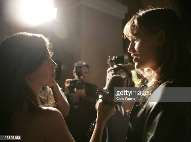 Adrianna Costa and Jennifer Garner during Children's Defense Fund 14th Annual Beat the Odds Fundraiser Red Carpet at Beverly Hills Hotel in Beverly...