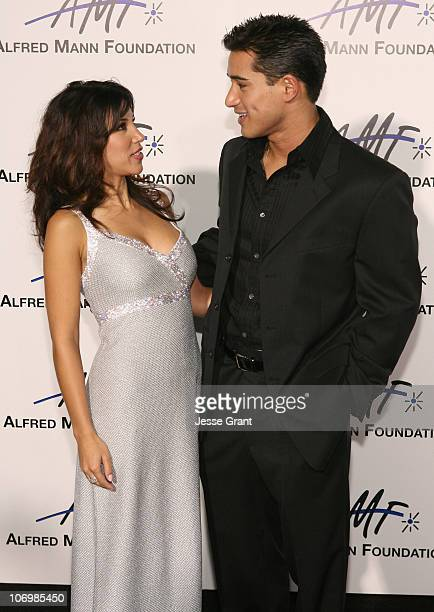 Adrianna Costa and Mario Lopez during 3rd Annual Alfred Mann Foundation Innovation and Inspiration Gala Honoring Richard and Nancy Riordan at Mann...