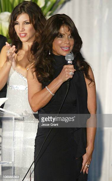 Adrianna Costa and Paula Abdul during 3rd Annual Alfred Mann Foundation Innovation and Inspiration Gala Honoring Richard and Nancy Riordan at Mann...