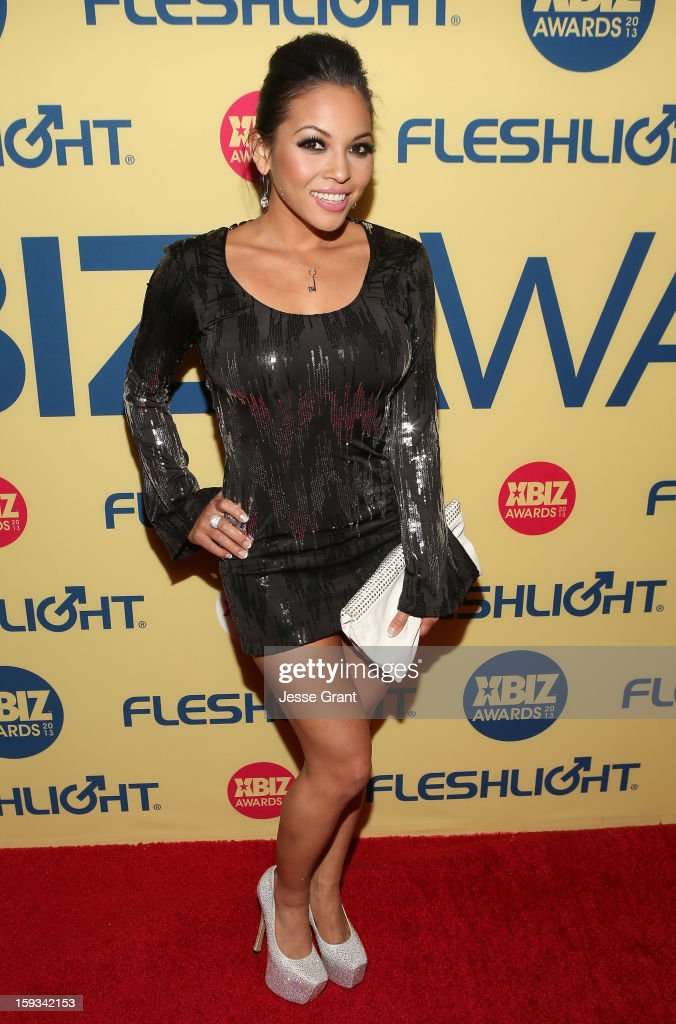 Adrianna Luna attends the 2013 XBIZ Awards at the Hyatt Regency Century Plaza on January 11, 2013 in Los Angeles, California.