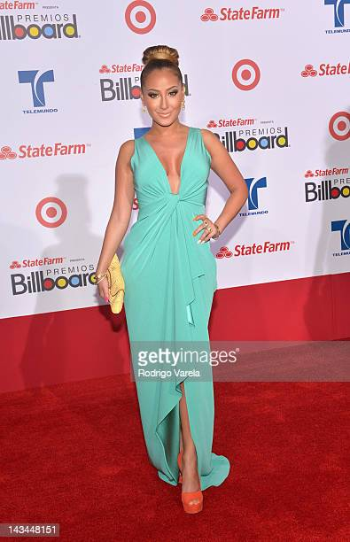 Adrianne Bailon arrives at the Billboard Latin Music Awards 2012 at Bank United Center on April 26 2012 in Miami Florida