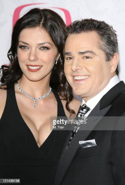 Adrianne Curry and Christopher Knight during 5th Annual TV Land Awards Arrivals at Barker Hangar in Santa Monica California United States