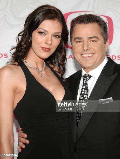 Adrianne Curry and Christopher Knight during 5th Annual TV Land Awards Arrivals at Barker Hanger in Santa Monica CA United States