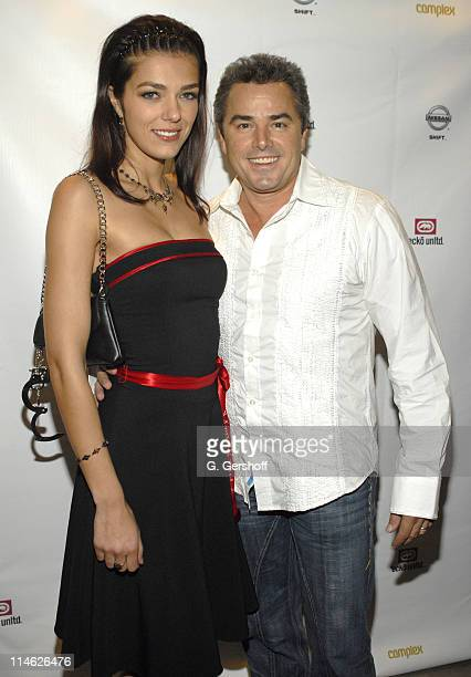 Adrianne Curry and Christopher Knight during Nissan and Marc Ecko Unveil Collaboration in Customized Vehicles and AutomotiveInspired Clothing at...