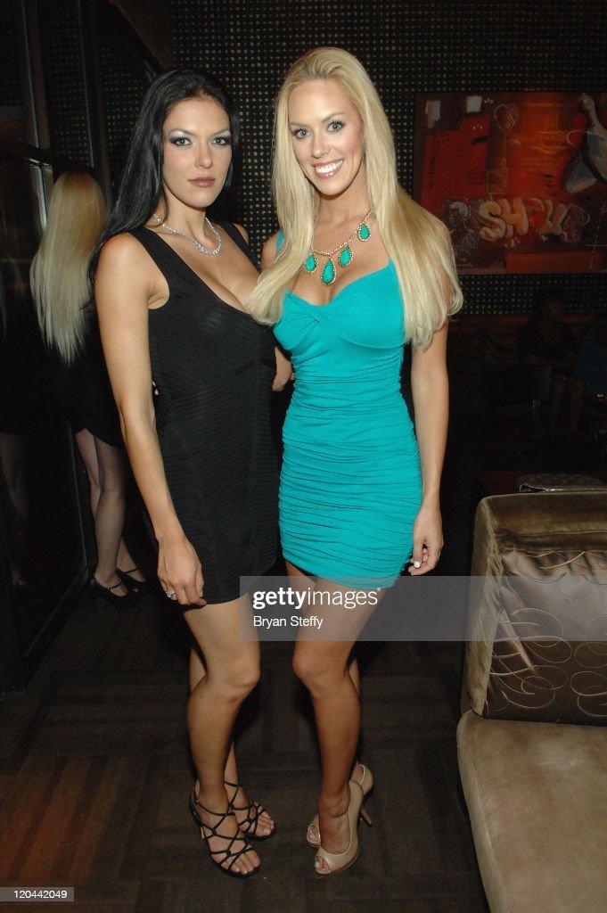 Adrianne Curry Celebrates Birthday At Blush Boutique Nightclub Inside Wynn Las Vegas