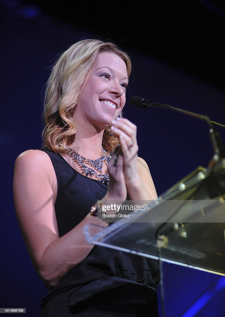 Adrianne Haslet-Davis was one of Boston Marathon victims and she was honored during the 18th Annual Kenneth B. Schwartz Compassionate Health Care Dinner at the Boston Convention & Exhibition Center on November 21, 2013.