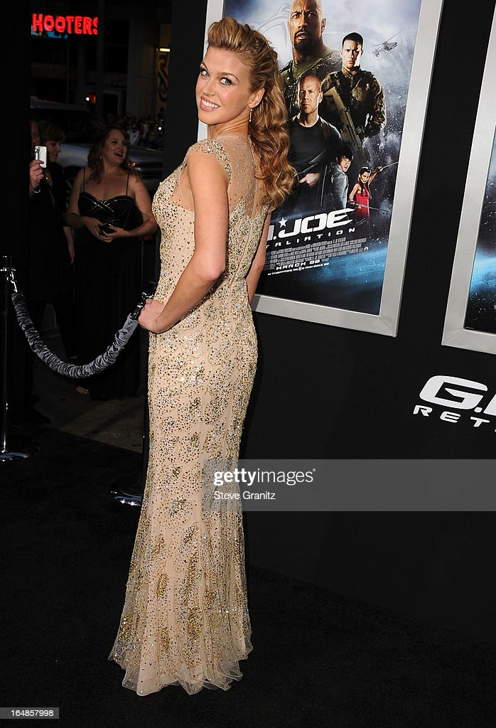 Adrianne Palicki arrives at the 'G.I. Joe: Retaliation' - Los Angeles Premiere at TCL Chinese Theatre on March 28, 2013 in Hollywood, California.