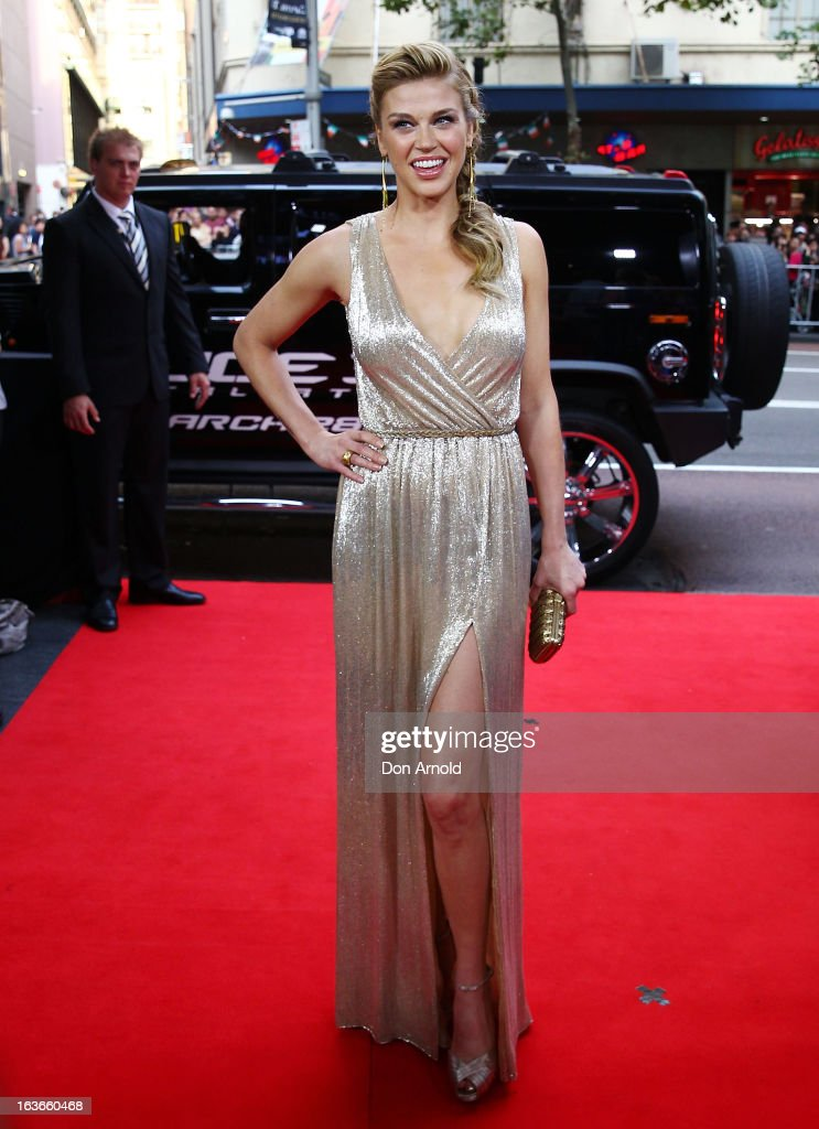 Adrianne Palicki arrives at the 'G.I.Joe: Retaliation' - Australian Premiere at Event Cinemas George Street on March 14, 2013 in Sydney, Australia.