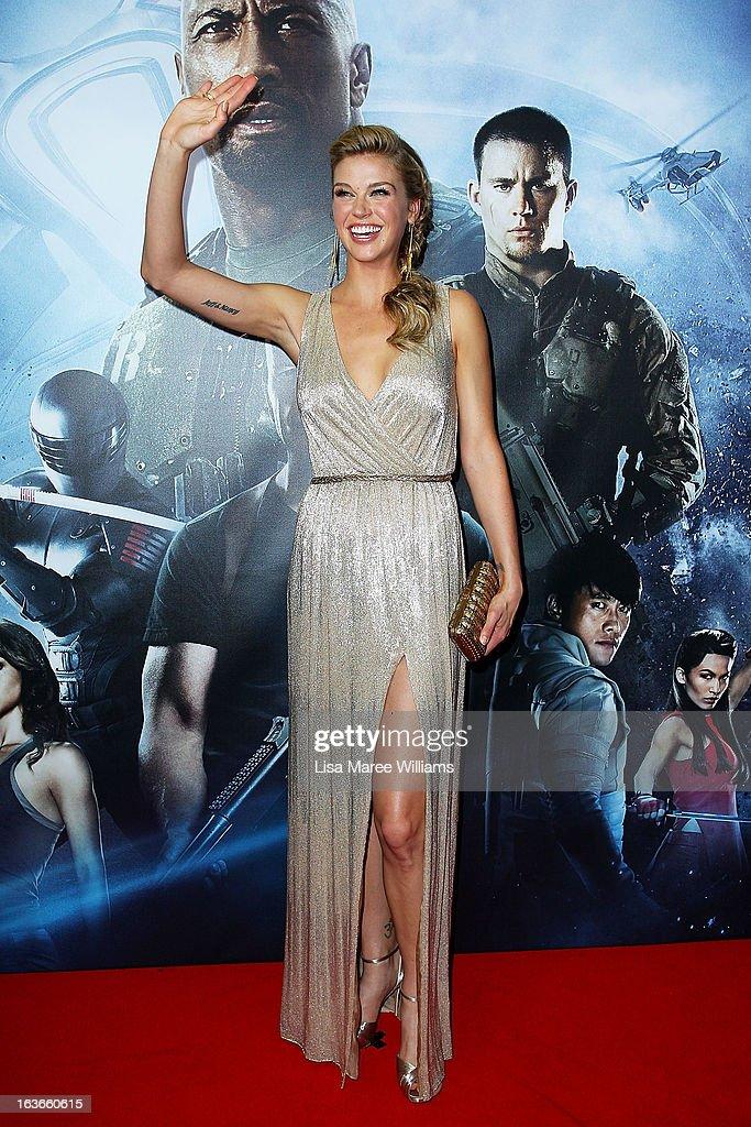 Adrianne Palicki arrives at the 'G.I.Joe: Retaliation' - Australian Premiere at Event Cinemas George Street on March 14, 2013 in Sydney, Australia.