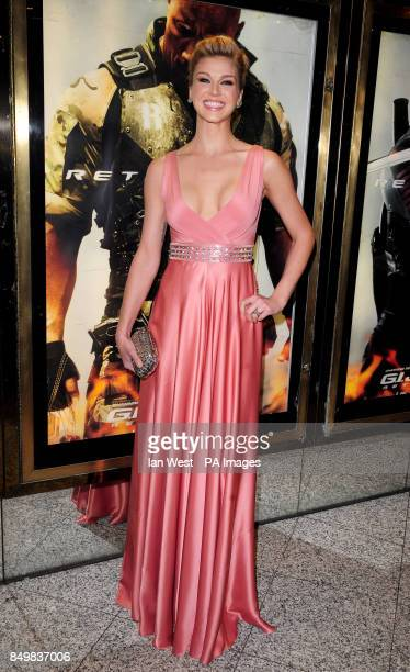 Adrianne Palicki arrives for the UK premiere of GI Joe Retaliation at the Empire Cinema in London