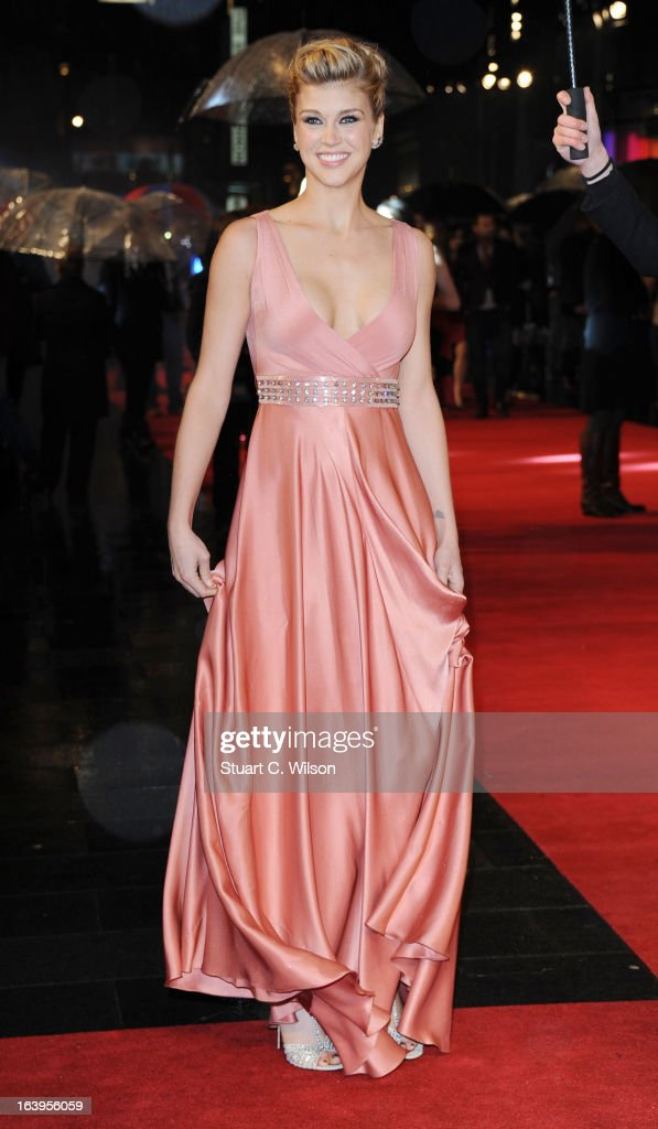 Adrianne Palicki attends the UK Premiere of G.I. Joe: Retaliation at Empire Leicester Square on March 18, 2013 in London, England.
