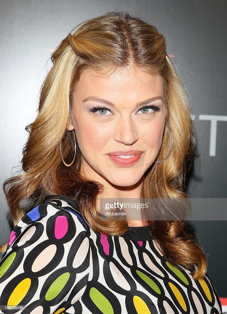 Adrianne Palicki attends the W Magazine & Guess Host 30 Years of Fashion & Film Next Generation of Style Party at Laurel Hardware on January 8, 2013 in West Hollywood, California.
