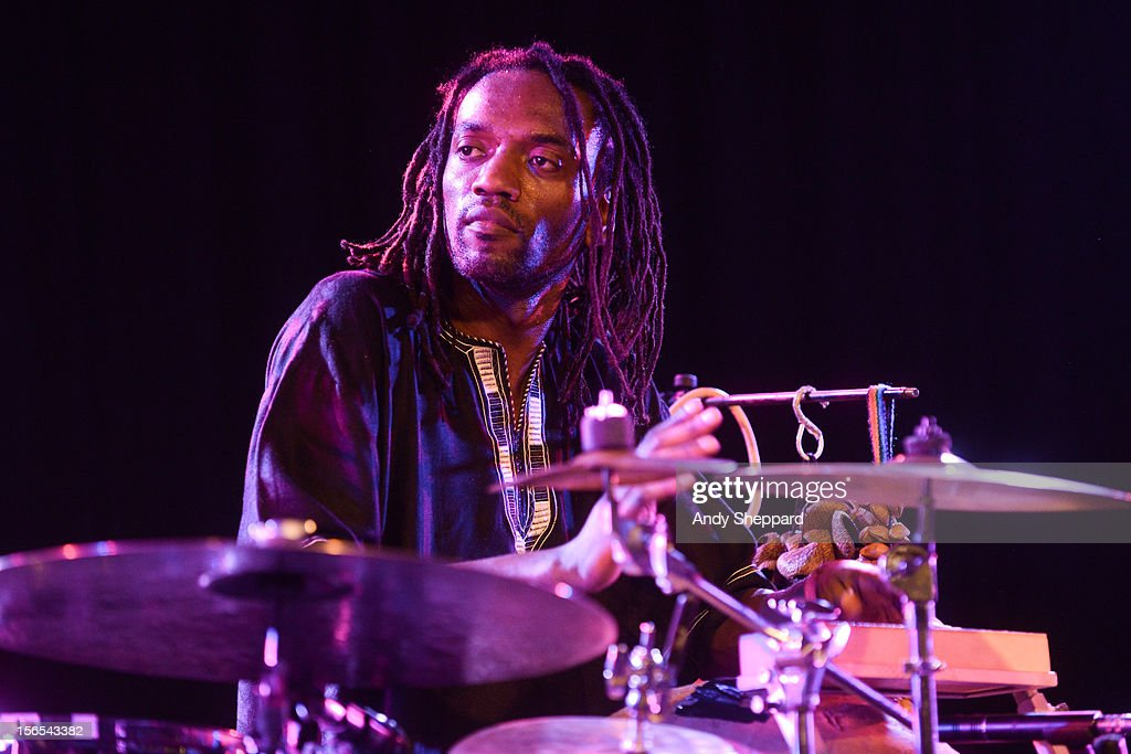 Adriano Adewale performs on stage at South Bank Centre during the London Jazz Festival 2012 on November 16, 2012 in London, United Kingdom.