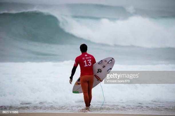 Adriano de Souza from Brazil performs during the Quicksilver Pro France surf competition on October 12 2017 in Hossegor France he French stage of the...