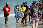 Adriano de Souza of Brazil lost his Round 3 heat of the Oi Rio Pro on May 15 2015 in Rio de Janeiro Brazil > on May 15 2015 in Rio de Janeiro Brazil
