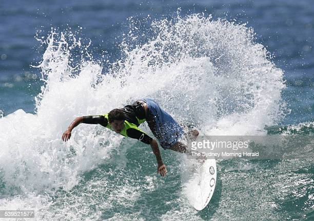Adriano de Souza winner of last year's World Junior Championship practicing at North Narrabeen in preparation for the World Junior Championships...