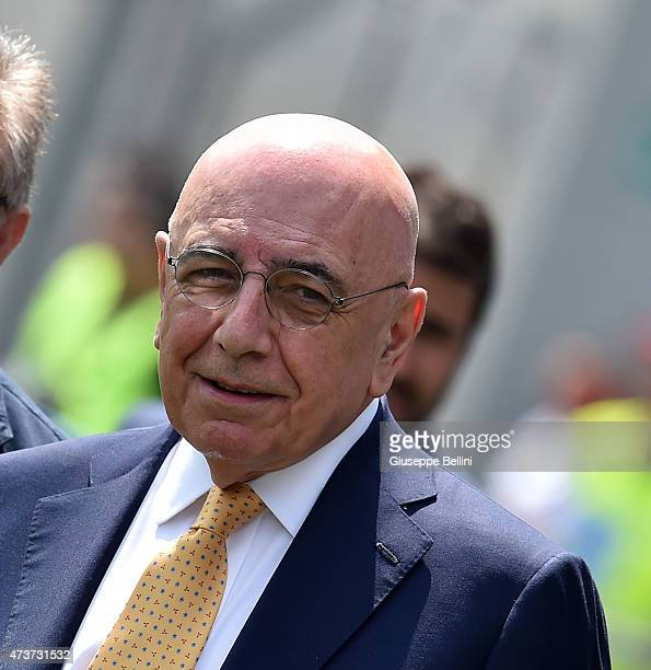 Adriano Galliani AD of Milan before the Serie A match between US Sassuolo Calcio and AC Milan on May 17 2015 in Reggio nell'Emilia Italy