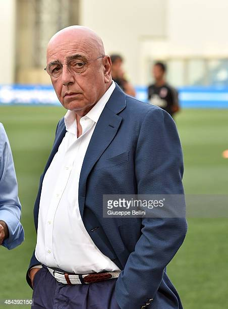 Adriano Galliani AD of Milan before the TIM preseason tournament match between AC Milan and FC Internazionale at Mapei Stadium Città del Tricolore on...