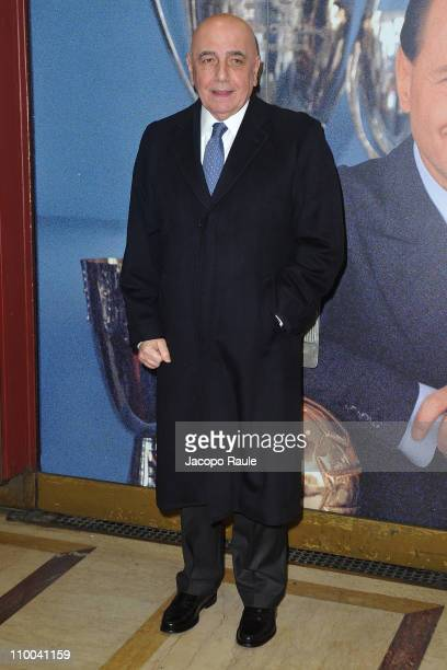 Adriano Galliani attends AC Milan Marks 25th Anniversary Of Berlusconi's Presidency Party Arrivals at Teatro Manzoni on March 13 2011 in Milan Italy