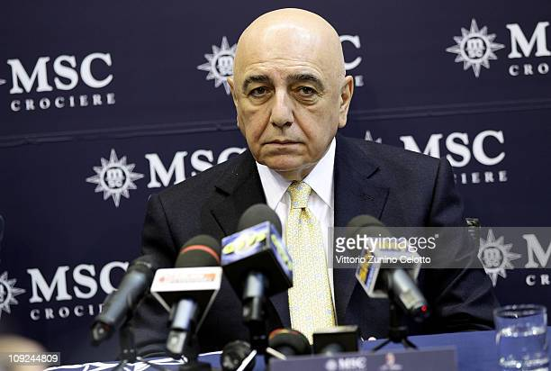 Adriano Galliani attends the 2011 BIT International Tourism Exchange held at Fieramilano on February 17 2011 in Milan Italy The BIT 2011...