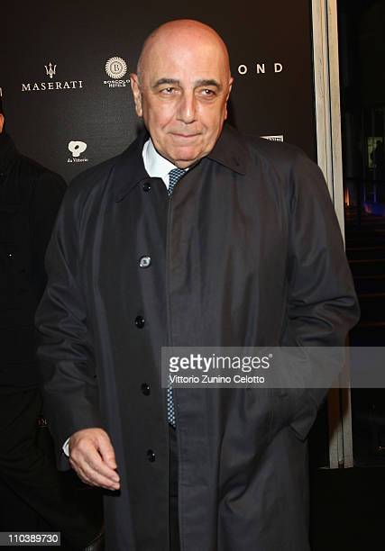 Adriano Galliani attends the 'Fundaction Privada Samuel Eto'o' Charity Event Red Carpet on March 17 2011 in Milan Italy