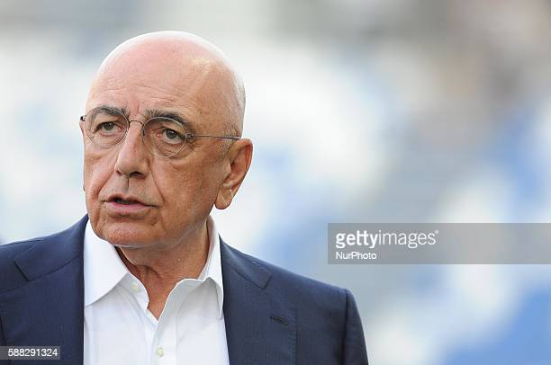 Adriano Galliani during TIM trophy between Milan v Real Club Celta de Vigo in Reggio Emilia on August 10 2016