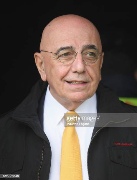 Adriano Galliani general manager of Milan during the Serie A match between Calcio Catania and AC Milan at Stadio Angelo Massimino on December 1 2013...
