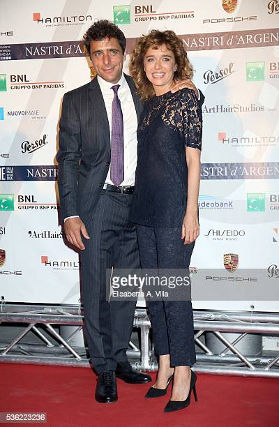 Adriano Giannini and Valeria Golino attend Nastri D'Argento 2016 Award Nominations at Maxxi on May 31 2016 in Rome Italy