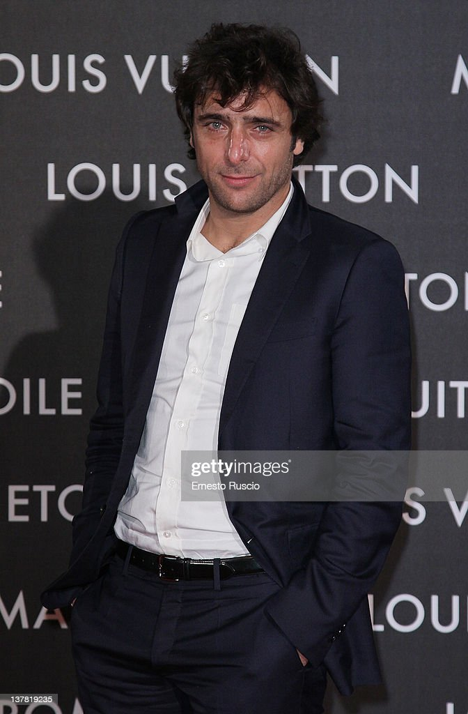 Adriano Giannini attends the 'Maison Louis Vuitton Roma Etoile' Opening Party at Ex Istituto Geologico on January 27, 2012 in Rome, Italy.