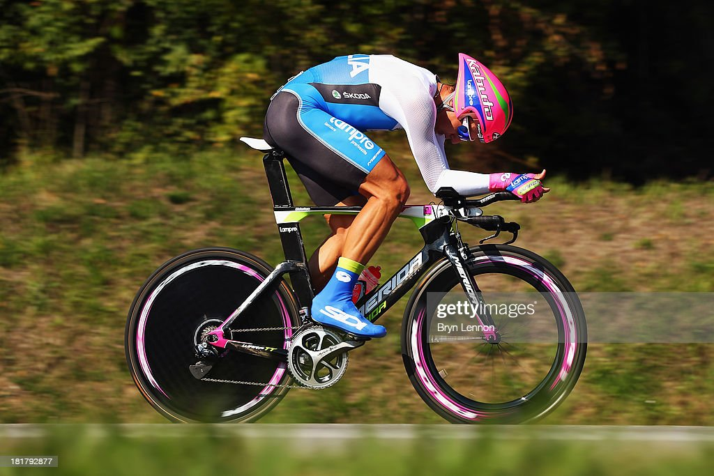 Adriano Malori of Italy in action in the Elite Men's Time Trial, from Montecatini Terme to Florence on day four of the UCI World Championships on September 25, 2013 in Florence, Italy.