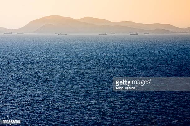 Adriatic sea with merchant ships