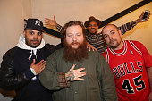 Adriel Ortiz Action Bronson Rocki Evans and Peter Rosenberg attend Action Bronson in Concert at Terminal 5 on March 24 2015 in New York City