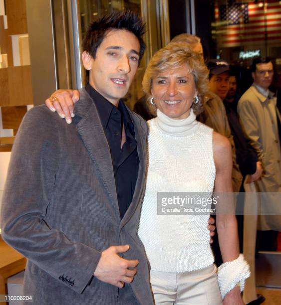 Adrien Brody and Anna Zegna during Ermenegildo Zegna Flagship Store Opening in New York City at 663 5th Avenue in New York City New York United States