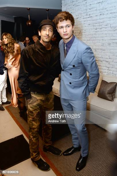 Adrien Brody and Ansel Elgort the screening after party of 'Baby Driver' hosted by TriStar Pictures and The Cinema Society at The Crown at Hotel 50...