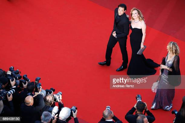 Adrien Brody and Caroline Scheufele attend the Closing Ceremony of the 70th annual Cannes Film Festival at Palais des Festivals on May 28 2017 in...